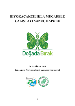 biyokaçakçılıkla mücadele çalıştayı sonuç raporu