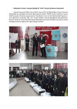 """Yüksekokul-Yurtkur- Emniyet İşbirliği ile """"Terör"""""""