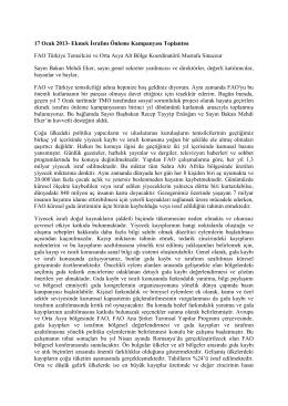 FAO Türkiye Temsilcisi ve Orta Asya Alt Bölge