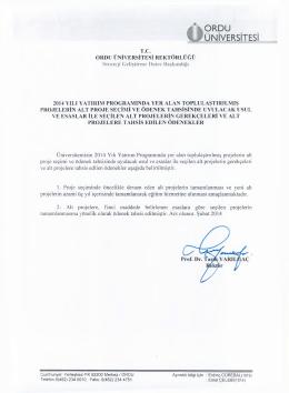 2014 Yılı Detay Programı - Strateji Geliştirme Daire Başkanlığı