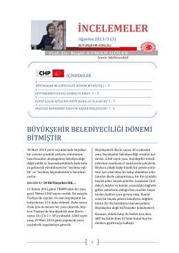 İNCELEMELER - Prof. Dr. Birgul Ayman Guler