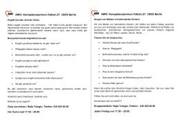 AWO- Kompetenzzentrum Falkstr.27, 12053 Berlin AWO