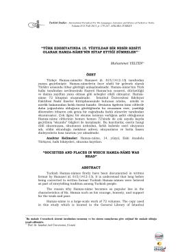 Türk Edebiyatında 15. Yüzyıldan Bir Nesir Kesiti