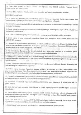 Program2 (devamı) - Malazgirt İlçe Milli Eğitim Müdürlüğü