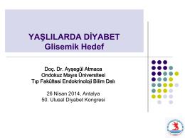 Glisemik hedef - Türk Diabet Cemiyeti