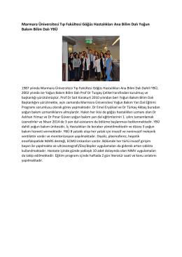 Marmara Üniversitesi Tıp Fakültesi Göğüs Hastalıkları Ana Bilim Dalı