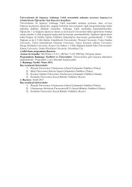 Üniversitemiz ile Japonya Ashinaga Vakfı arasındaki anlaşma