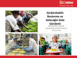 Sürdürülebilir Beslenme ve Geleceğin Gıda Gündemi