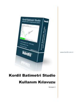 Kordil Batimetri Studio Kullanım Kılavuzu