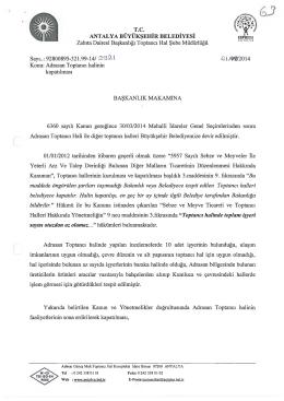 Gündemin 63.Maddesi - Antalya Belediyesi