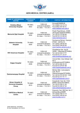 AERO-MEDICAL CENTRES (AeMCs)