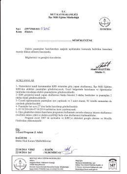 DAĞITIM : - mut ilçe millî eğitim müdürlüğü