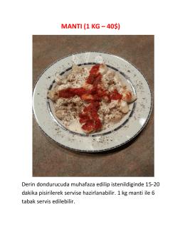 MANTI (1 KG – 40$)