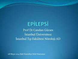 Prof Dr Candan Gürses İstanbul Üniversitesi İstanbul Tıp Fakültesi