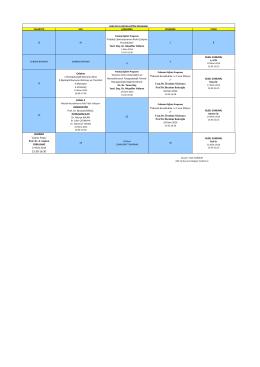 Ekim 2014 Asistan Eğitim Programı