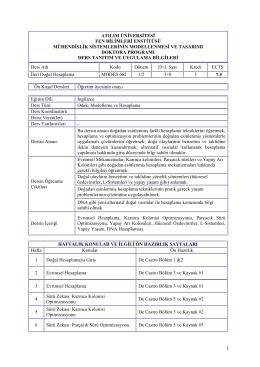 atılım üniversitesi fen bilimleri enstitüsü mühendislik sistemlerinin