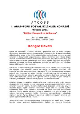 ATCOSS-4 Kongre Daveti