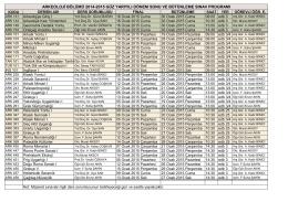 Final Sınav Programı (pdf)