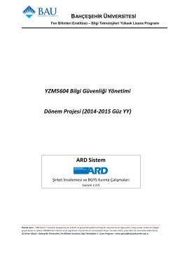 ARD Sistem - eng.bahcesehir.edu.tr