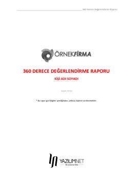360 Derece Değerlendirme Raporu