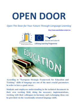Open The Door for Your Future Through Language Learning