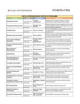 Program - BİLGİ Eğitim