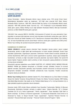 INDENSE EĞİTİMCİSİ ŞAKİR GÜLSEVER İMCİSİ ER