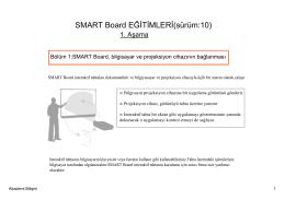 SMART Board EĞİTİMLERİ(sürüm:10) 1. Aşama