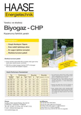 Biyogaz CHP Tr
