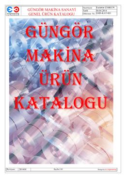 PDF e-Katalog - Güngör Makina