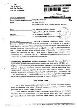 Karar için tıklayınız - Türkiye Barolar Birliği