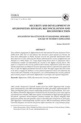 Security and Development in Afghanistan: Rivalry