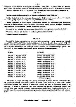 3 — türkiye cumhuriyeti hükümeti ile so¥wt sosyalist cumhuriyetleri