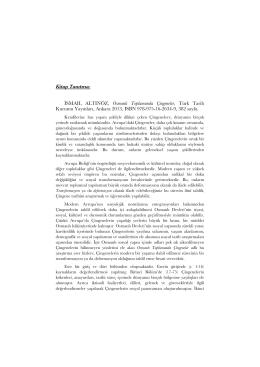 Kitâbiyât-Osmanlı Toplumunda Çingeneler