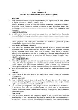 Sözleşme - Sinop Üniversitesi