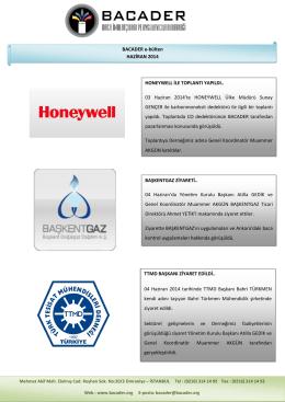 HONEYWELL İLE TOPLANTI YAPILDI.. 03 Haziran 2014