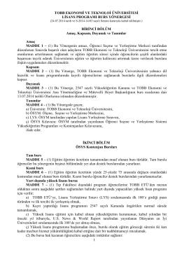 BAŞKENT ÜNİVERSİTESİ - TOBB Ekonomi ve Teknoloji Üniversitesi