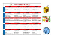 OCAK 2015 ayı yemek listesi için tıklayınız