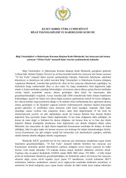 kuzey kıbrıs türk cumhuriyeti bilgi teknolojileri ve haberleşme