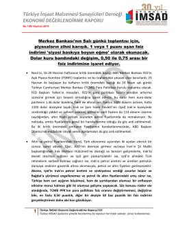 1 Türkiye İMSAD Ekonomi Değerlendirme Raporu/159