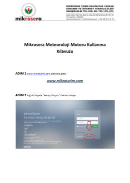 Mikrosera Meteoroloji Motoru Kullanma Kılavuzu