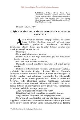 Bokijon TUKHLIYEV ALİŞİR NEVAİ