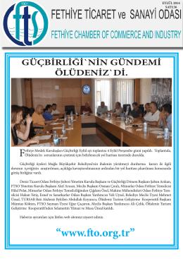 Sayı- 36 - Fethiye Ticaret ve Sanayi Odası