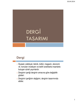 Dergi - Forum Ana sayfa