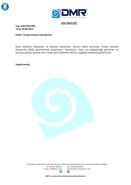 KGK/2014.001 – Türkiye Denetim Standartları