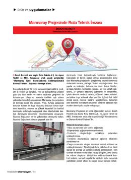 Marmaray Projesinde Rota Teknik İmzası