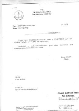 üüvenli Elektronik İmzah - mut ilçe millî eğitim müdürlüğü