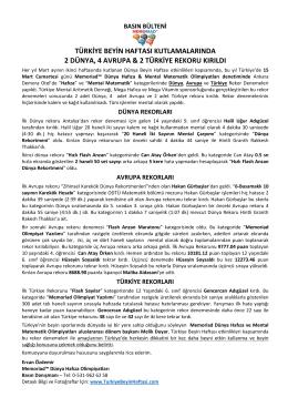 PDF versiyonu - Türkiye Beyin Haftası