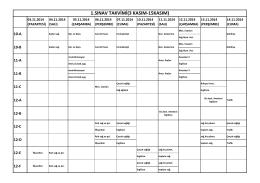 sınav programını pdf formatında görüntülemek için tıklayınız