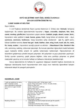 ODTÜ GELİŞTİRME VAKFI ÖZEL DENİZLİ İLKOKULU 2014-2015